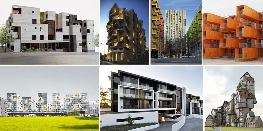 The implement of modern design in residential buildings